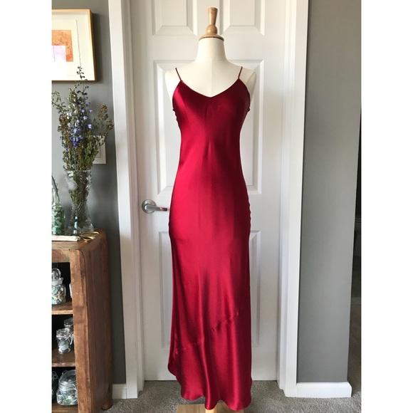 d6583161b067 Nili Lotan Dresses | Red Silk Maxi Slip Dress | Poshmark